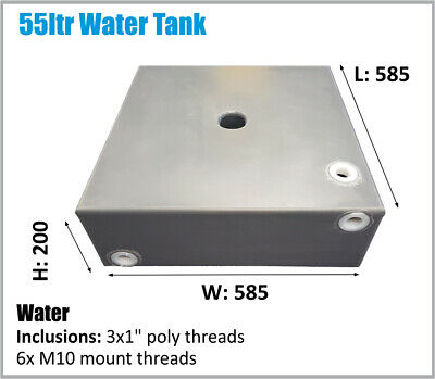 AU145 • Buy Toyota Etc 4x4 Under Ute Tray Water Tank 55ltr Caravan 4wd Camper Ask Freight
