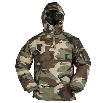 Mens Winter Military Padded Insulated Fleece Lined Anorak Jacket Woodland Camo • 42.80£