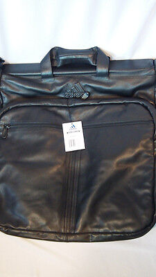 $225.60 • Buy Adidas Garment Bag Black Leather Men's Womens Rare Luggage Laptop Bag Travel NWT