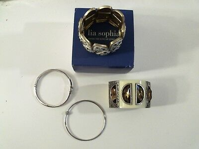 $ CDN34.60 • Buy Lia Sophia Bracelet Lot Of 4. Good Used Condition One In Original Box #004