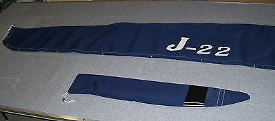 $318 • Buy J-22 MAIN SAIL COVER SUNBRELLA Fabric With Sewn On Logo And TILLER COVER