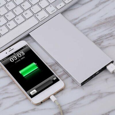 AU11.99 • Buy Ultra-Thin Power Bank Charger With Dual USB And Solar Charging