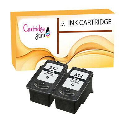 £28.03 • Buy 2 Black Remanufactured Ink Cartridge For Canon IP2700 IP2702 MP230 MP235 PG512