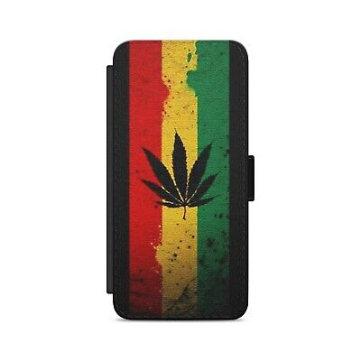 BOB MARLEY Color Stripes Leather Flip Wallet Phone Case • 8.84£