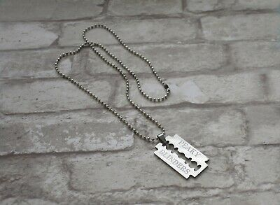 Peaky Blinders Thomas Shelby Cillian Murphy Razor Blade Necklace Present Gift • 7.99£