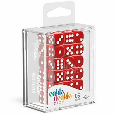 AU20.34 • Buy Oakie Doakie Dice D6 12 Mm Solid Red 36pc