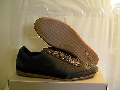 Lacoste Shoes Casual Misano 15 Spm Lth/sde GRY Size 8 Us New With Box • 105.03£