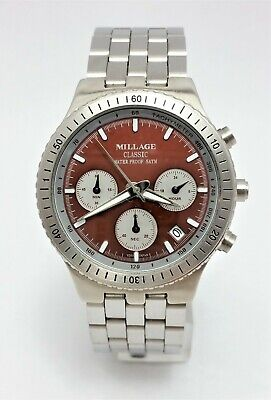 $149.99 • Buy Millage Classic 4388 Date Chronograph Stainless Steel Japan Movement - Nice!