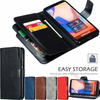 $ CDN9.57 • Buy For Samsung S10 S9 J4 J6 Plus A6 A7 A8 2018 Wallet Flip Leather Phone Case Cover
