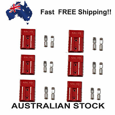 AU18.99 • Buy Anderson Style Plug 50A Red (Pack Of 6)