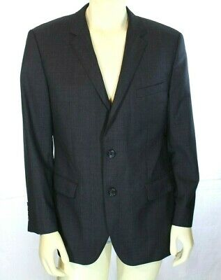 2e36fdbf4 HUGO BOSS James Sharp Jacket Regular Fit Virgin Wool Men's Blazer Gray Size  42R • 49.99