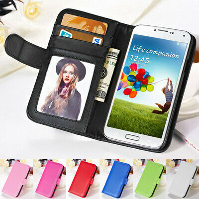 AU4.99 • Buy Samsung Galaxy S67 Edge Premium Flip Wallet Photo ID Case Plain PU Leather Cover