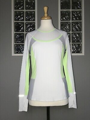 $ CDN52 • Buy Lululemon Trail Bound Long Sleeve 6 White Clear Mint Ls Eeuc