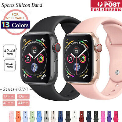 AU5.49 • Buy Sports Silicone Bracelet Wrist Band F Apple Watch Series 5 4 3 2 1-38 40 42 44mm