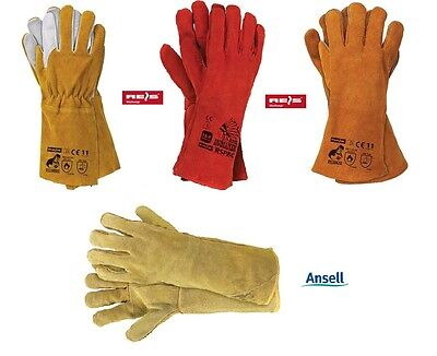 £9.56 • Buy Welding Gloves , Red Heat Resistant , MIG , ARC , TIG , Fire Place Stove