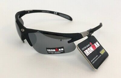 61dcf105bc Foster Grant Ironman Hurdle Black Polarized Sunglasses 100% UVA   UVB New •  9.99