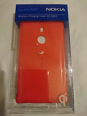 AU14.99 • Buy Genuine Official Nokia Lumia 925 Wireless Charging Cover CC-3065 (Red)