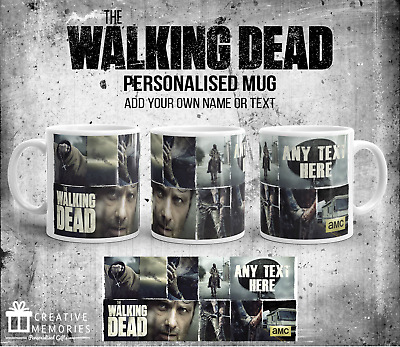 £9.99 • Buy Andrew Lincoln Personalised The Walking Dead Gift Mug Cup Coffee Tea TV Show TWD