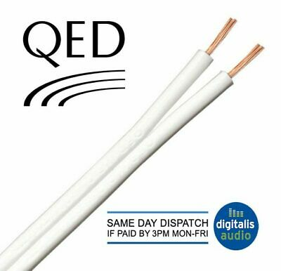 $ CDN17.25 • Buy 10m Of White QED 42 Strand Oxygen Free Copper (OFC) HiFi Speaker Cable