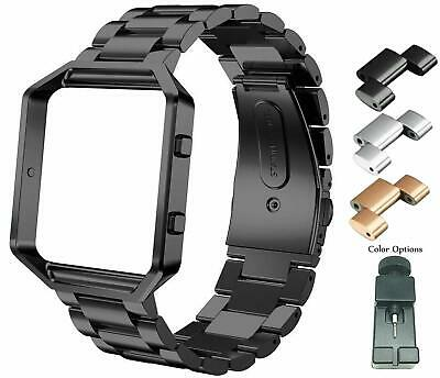 $ CDN23.66 • Buy Compatible Fitbit Blaze Bands Metal Stainless Steel Frame Bracelet Replacement