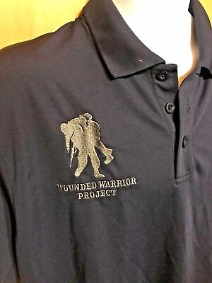460ceb74 UNDER ARMOUR Adult Large POLO Embroidered WOUNDED WARRIOR Logo HEAT GEAR  Shirt • 27.75$