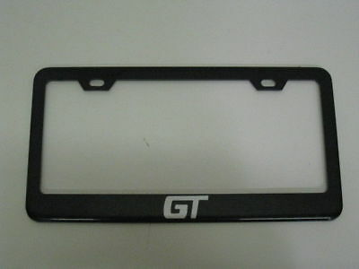 *GT* GRAND AM/PRIX BLACK Metal License Plate Frame Tag Holder With Caps • 12.30$