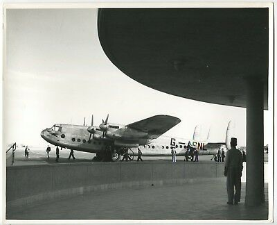 Boac Avro York At Almaza Cairo Large Official Vintage B.o.a.c. Stamped Photo • 30.95£