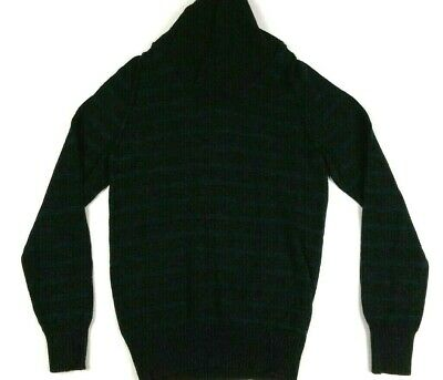 H&M LABEL OF GRADED GOODS Women's Sweater Small Gray Blue Striped Long Sleeve S • 9.99$