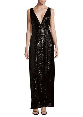 $49.99 • Buy Aidan Mattox Sequin Wrap Black Dress Size 6 New With Tags
