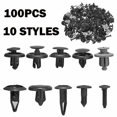 $ CDN5.13 • Buy 100x Trunk Screw Rivets Set Car Bumper Fender For Auto Plastic Fastener Clips