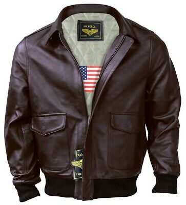 $79.99 • Buy Men A-2 Air Force Flight Bomber Genuine Leather Jacket ( FAST SHIPPING )
