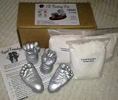 AU24.95 • Buy Baby Casting Kit-100% Safe. Creates Up To 4 Castings. Suitable For Baby 0-12 Mth