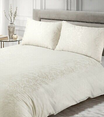 £19.95 • Buy Luxury Damask Cream Duvet Cover Bedding Set With Pillowcases Single Double King
