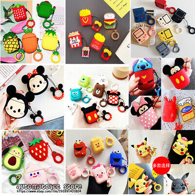 $ CDN6.56 • Buy For Apple Airpods Charging Case Earbuds Protector Cover 3D Cute Silicone Cartoon