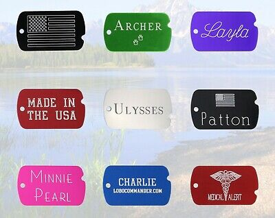 $4.89 • Buy Custom Engraved Military ID Dog Tag, Personalized Front & Back, Great For All!