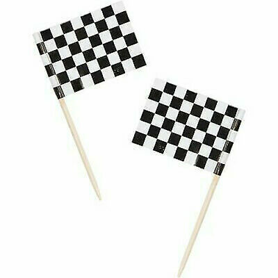 £2.99 • Buy Checked Flag Black And White Racing Flags Picks Cake Cupcake Topper Decoration