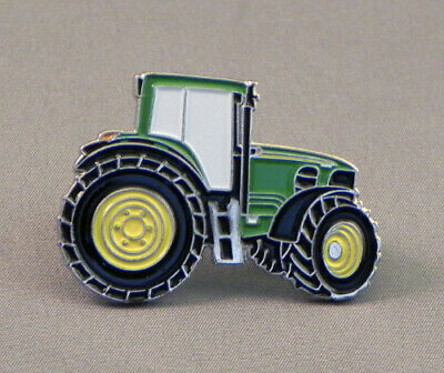 Large Green 38mm Tractor Pin Badge • 2.60£
