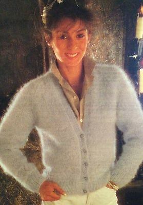 Ladies Mohair Cardigan (32  - 42 ) Knitting Pattern • 2.49£