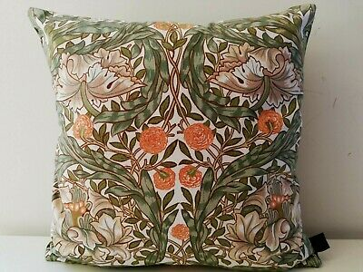 Sanderson William Morris African Marigold Cotton & Linen Cushion Cover - Green • 22.50£