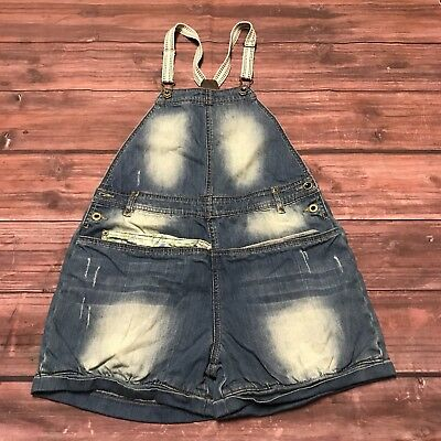 $15.46 • Buy I Love Next Womens Overall Shorts Shortall Size 15 Suspenders Stonewashed