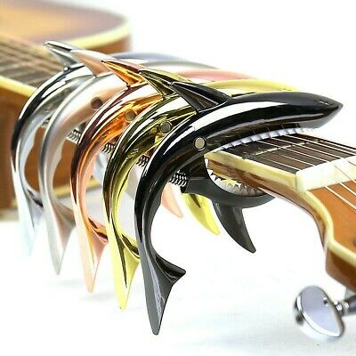 $ CDN27.47 • Buy Metal Shark Guitar Capo Sound Change Clips Wood Electric Acoustic Guitars Multi
