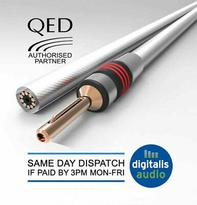 $ CDN112.25 • Buy QED XT25 Speaker Cable 2 X 3m Terminated With Metal Airloc Forte Banana Plugs