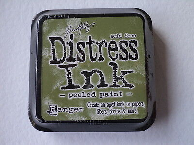TIM HOLTZ DISTRESS INK PAD PEELED PAINT FULL SIZE 3  X 3  BNIP *LOOK* • 3.99£