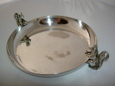Large Viners Of Sheffield Silver Plated Sweet Change Tip Dish Squirrel Handles • 9.99£