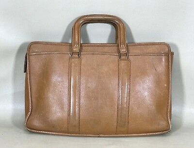 $117.50 • Buy Vintage Coach Made In USA Glove Tan Cowhide Leather Business Briefcase Rare