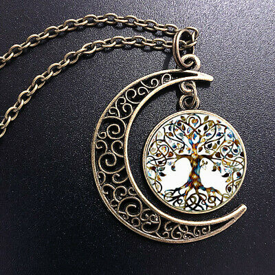 AU2.70 • Buy Living Tree Of Life Pendant Choker Statement Bronze Moon Necklace For Women Dres
