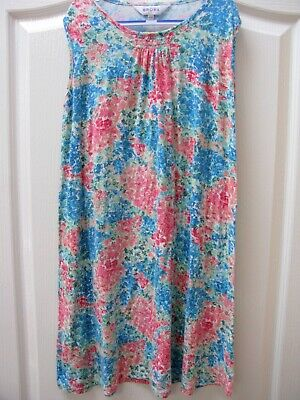 Brora Floral Dress 11 - 12 Years Jersey Smocked Casual Holiday Teen Summer Boho • 16£