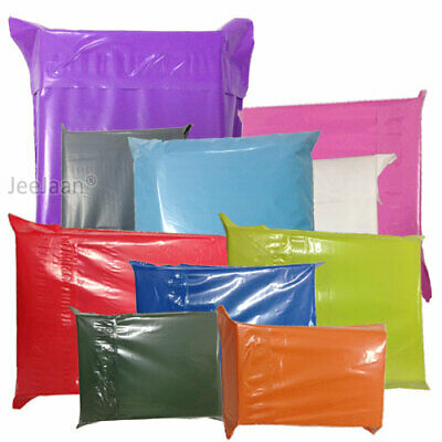 Colored Mailing Bags Postal Sacks Mail Post/shipping  Bags All Colours 4 Sizes • 3.27£