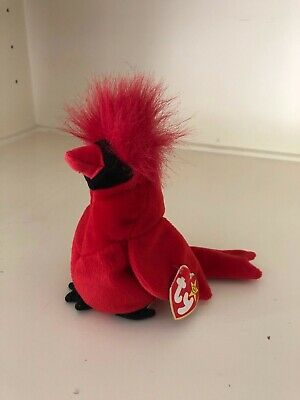 $5500 • Buy Mac The Cardinal Beanie Baby -- EXTREMELY RARE