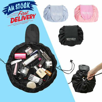 AU10.99 • Buy Portability Travel Cosmetic Bag Drawstring Magic Large Storage Makeup Pouch AU